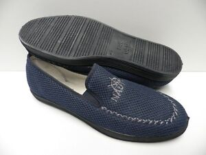 Chaussons-bleu-marine-pour-HOMME-taille-46-garcon-slippers-blue-man-NEUF-nautic