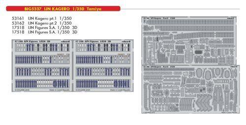 Eduard 1  350 IJN Kagero Destroyer Big -Ed Set