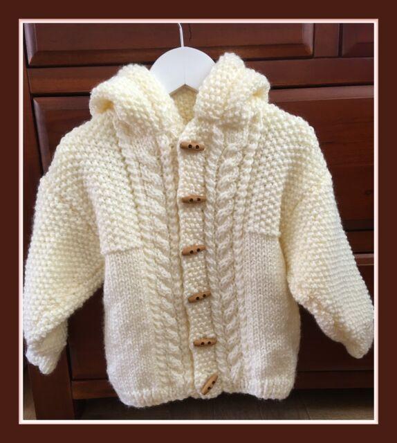 Baby Knitting Pattern Chunky Jacket Boys Girls 16 28 211 Ebay