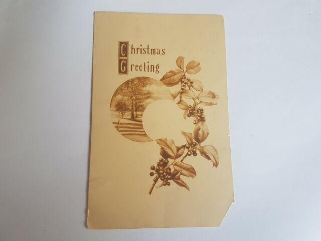 Greeting Postcard Vintage Christmas Sepia