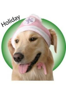 Winter-Knit-Snowflake-Polyester-Dog-Hat-Size-Choice-by-Doggles-Unisex