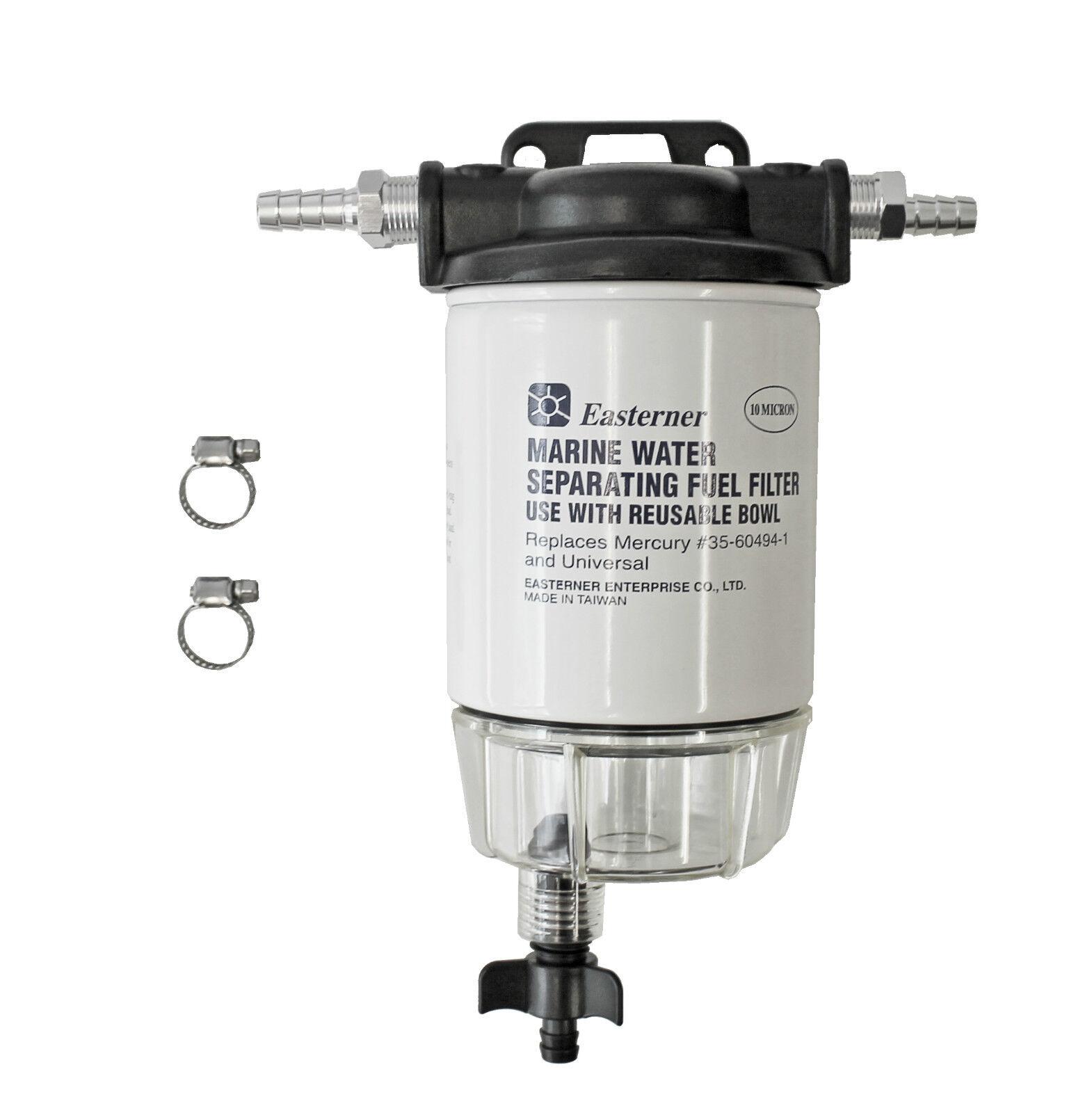 Benzinfilter Wasserabscheider mit Schauglas    für Mercury 9 5mm Anschluss Filter e2d25a