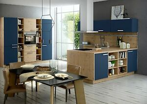 nolte k che nova lack artwood tiefblau hochglanz ebay. Black Bedroom Furniture Sets. Home Design Ideas