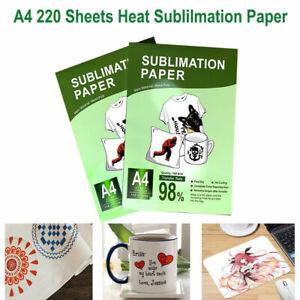 110Pcs A4 Iron On Heat Sublimation Transfer Paper for Inkjet Printer T-Shirt Mug