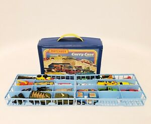Vintage-decada-de-1970-Matchbox-Lesney-Superfast-20-Lote-Coches-Con-Funda-De-Transporte
