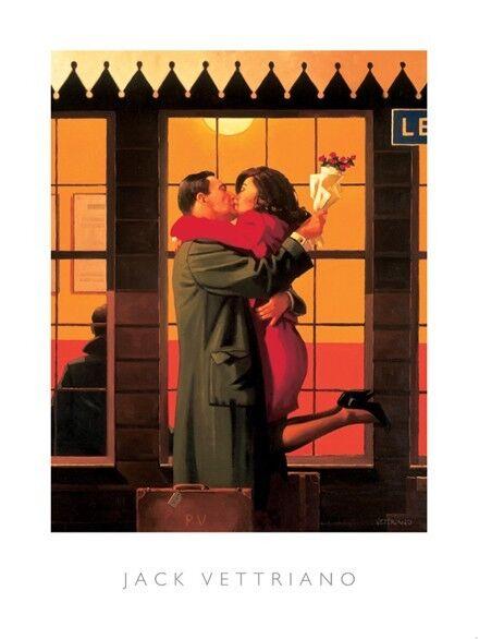 Art Print 40x50cm Jack Vettriano Edith and the Kingpin
