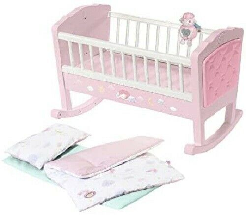 Baby Annabell Sweet Dreams Crib Baby Doll Bed Cot Bedtime Toy Playset Zapf