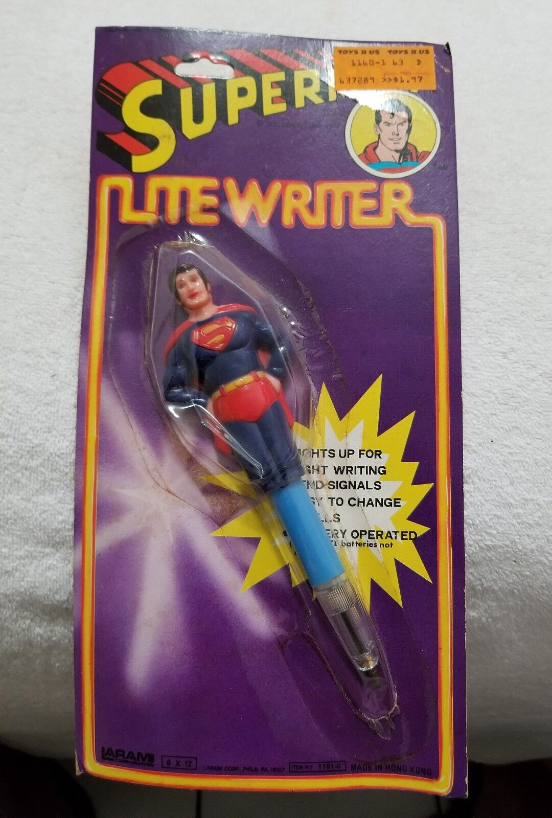 1978 Larami Corp. Corp. Corp. Superman Litewriter (NIP) 850289
