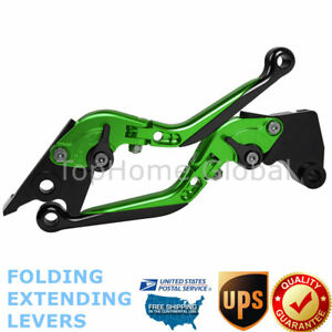 Details about For Kawasaki Z125 Pro 2015-2019 Folding Extendable Clutch  Brake Levers Green US