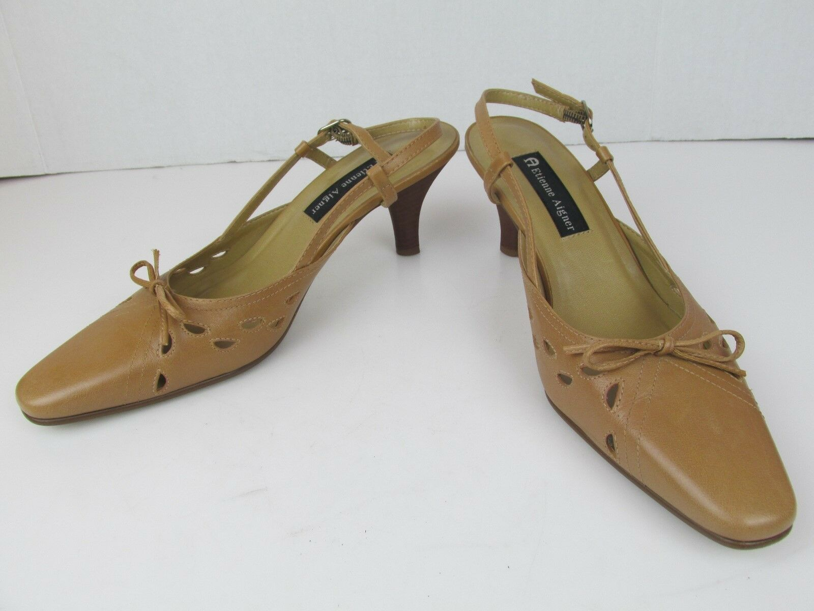 Etienne Aigner women's brown leather shoes size in  8,5  made in size Brazil 65b1f1
