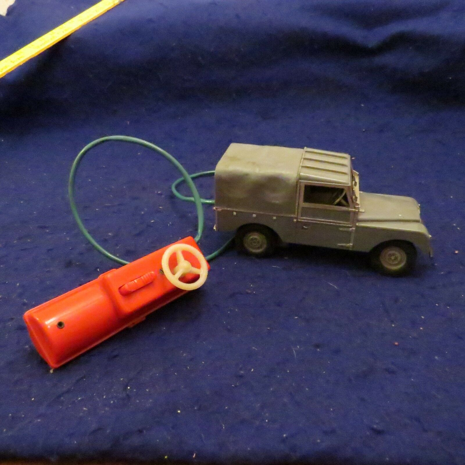 1960's Vintage Empire Made Marx Toys Land Rover Remote battery Control WORKING