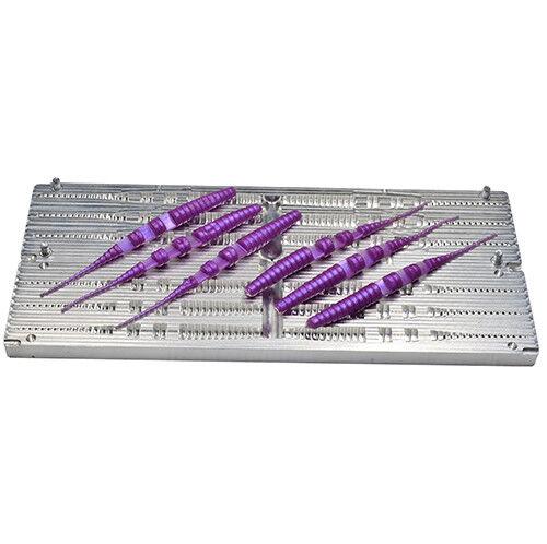 Hágalo usted mismo CNC Aluminio Plástico Suave Señuelo Cochenada Molde Moldes Palo de Java 5.5  6 cavidad