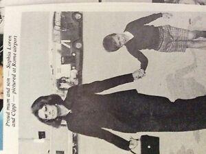 m52h ephemera 1970s picture sophia loren cippi rome airport - Leicester, United Kingdom - m52h ephemera 1970s picture sophia loren cippi rome airport - Leicester, United Kingdom