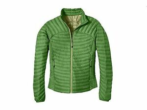 NWT-Eddie-Bauer-First-Ascent-Womens-Microtherm-StormDown-Jacket-Shirt-Kiwi
