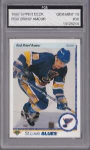 ROD-BRIND-039-AMOUR-1990-91-UPPER-DECK-36-FGS-10-GRADED