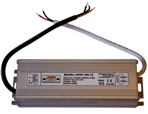 100 Watt 12V Trafo Transformator Netzgerät Netzteil LED Halogen IP 67 8,3 A