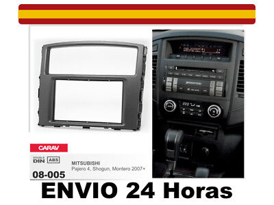 Shogun CARAV 08-005 2-DIN Marco de pl/ástico para Radio para Mitsubishi Pajero Montero 2007+