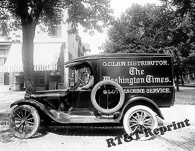 Photograph Vintage G.C. Law Washington Times Delivery Truck 1920   8x10