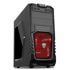 AVP Storm 27 Gaming Pc Computer Tower case-Front USB 3.0 & LED ROSSO