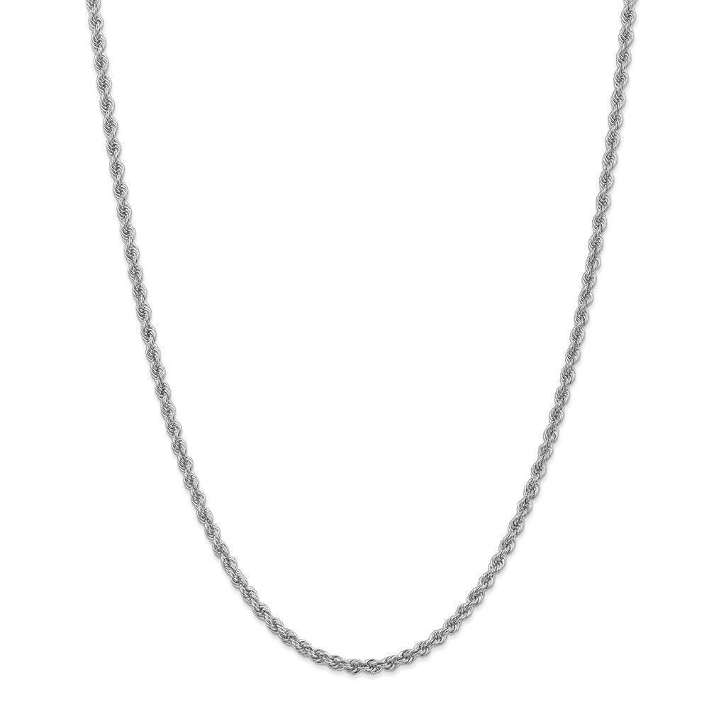 14K White gold 3.25MM Handmade Rope Link Bracelet