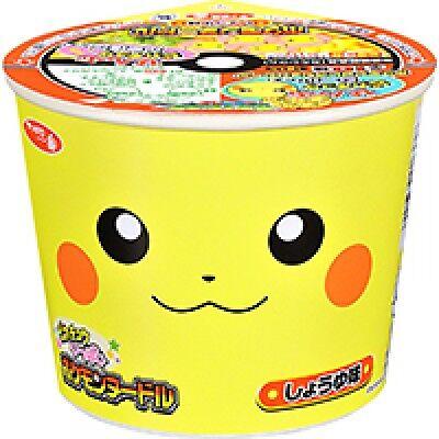 Sapporo Pokemon noodle soy sauce Cup Ramen mini pikachu Kwaii 38g Japan tasty