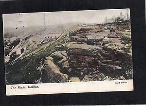 THE-ROCKS-HALIFAX-KING-SERIES-POSTCARD-POSTED-1904