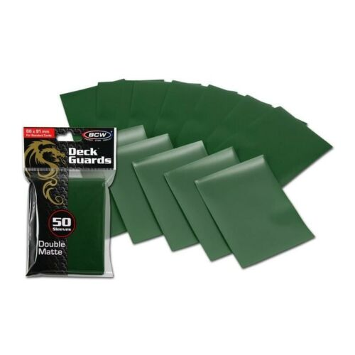 100 Matte Green MTG BCW Deck Guards CCG MTG Pokemon Gaming Card Sleeves 2 Packs