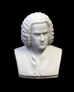 9944078 Figurine Porcellana Busto Bach Bianca Bisquit Kämmer H12cm