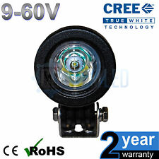 12v 10w Cree Round LED Spot Working Work Light Tractor Boat HGV Reverse Bike