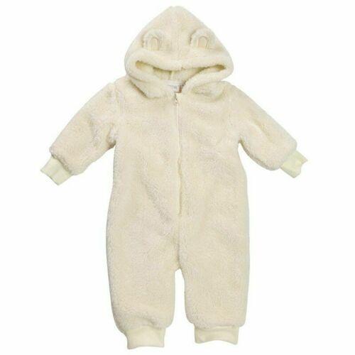 Baby Snuggle Fleece All in One Sleepsuit à capuche Ange Babygrow nouveau-né 12 mois
