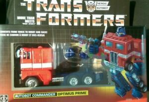 TRANSFORMERS G1 reissue optimus prime Brand new action figure MISB white black