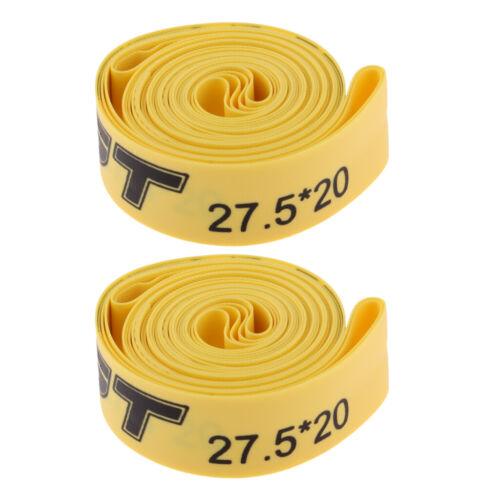 2 Stück Pannenband Fahrrad Pannenschutzeinlage für 27.5 Zoll Fahrrad Gelb