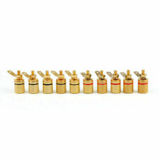 10 Pcs Gold Plated Binding Post Amplifier Speaker Audio Connector Terminal Zb