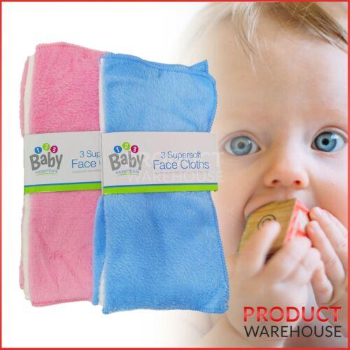 Baby Wash éponge Pack 3 Visage Lavage Vêtements Super doux serviette Flanelle Lavage en Machine