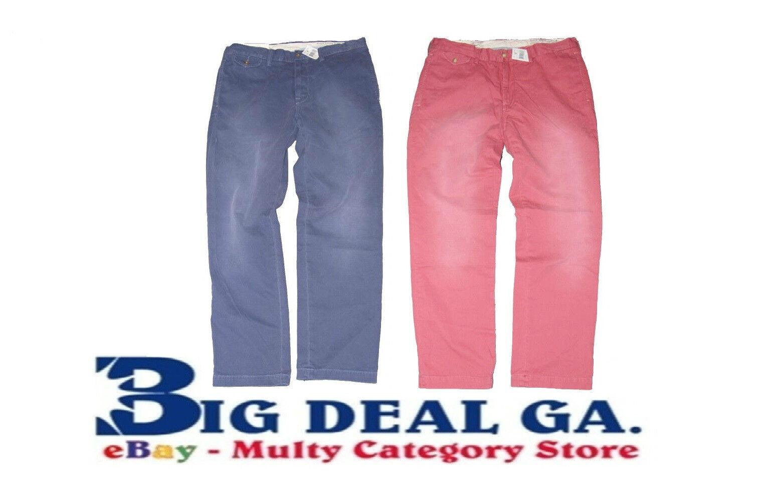 Polo Ralph Lauren Mens Sun Faded Vintage Flat Front Pant Multiple colors