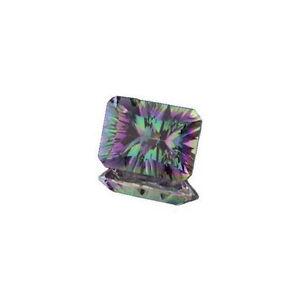 (10x8mm - 20x15mm) Rainbow Quartz Emerald Concave Cut Loose Gemstone