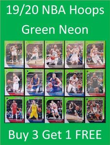 2019-20-Panini-NBA-Hoops-Basketball-Cards-Neon-Green-Cards-Buy-3-Get-1-FREE
