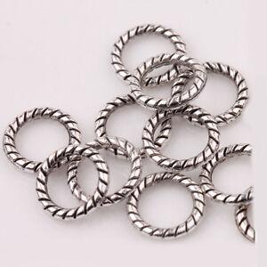 100Pcs-Circle-Tibetan-Silver-Spacer-Bead-Charm-Retro-Bracelet-Jewelry-Craft-8mm