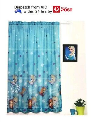 Disney Frozen Children/'s Curtains 2 Pack Girls 100x160cm Elsa Anna Princess