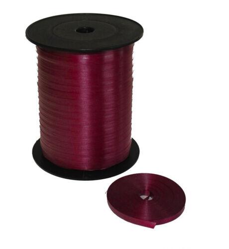 5mm cinta que se encrespa Borgoña eligió de 10m-100m Para Globos /& Envoltura De Regalo