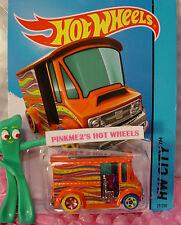 Case P 2015 Hot Wheels BREAD BOX Delivery Truck #29∞Orange;Magenta/yellow∞