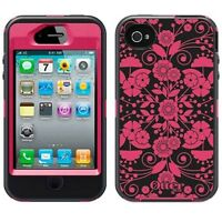 Otterbox 77-20409 Defender Series Graphic Case For Iphone 4/4s, 100% Authentic