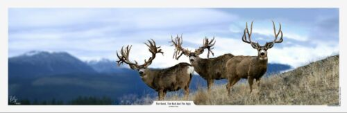 The Good The Bad and The Ugly Mule Deer Print by Robert King