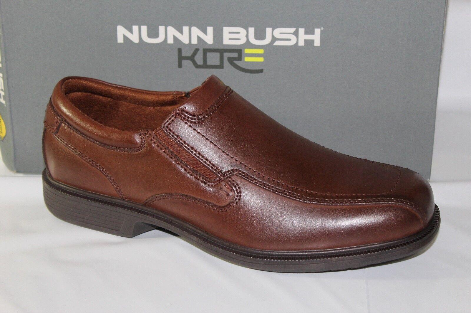 NUNN BUSH BLEEKER ST. Para Hombre Zapato de vestido sin cordones, puntera MOC, tamaño 10.5 amplia, 84357 221