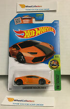 Lamborghini Huracan LP610-4 #76 * ORANGE * Hot Wheels 2016 * N140