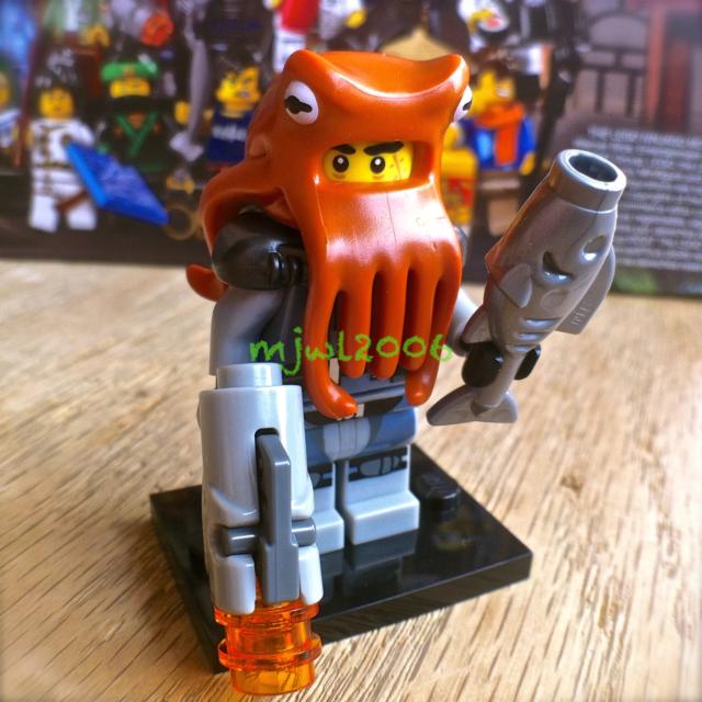 71019 LEGO NINJAGO MOVIE Minifigures Shark Army Octopus #12 FACTORY-SEALED gun