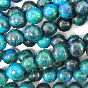 10MM-BLUE-GREEN-AZURITE-ROUND-BEADS-15-034-STRAND