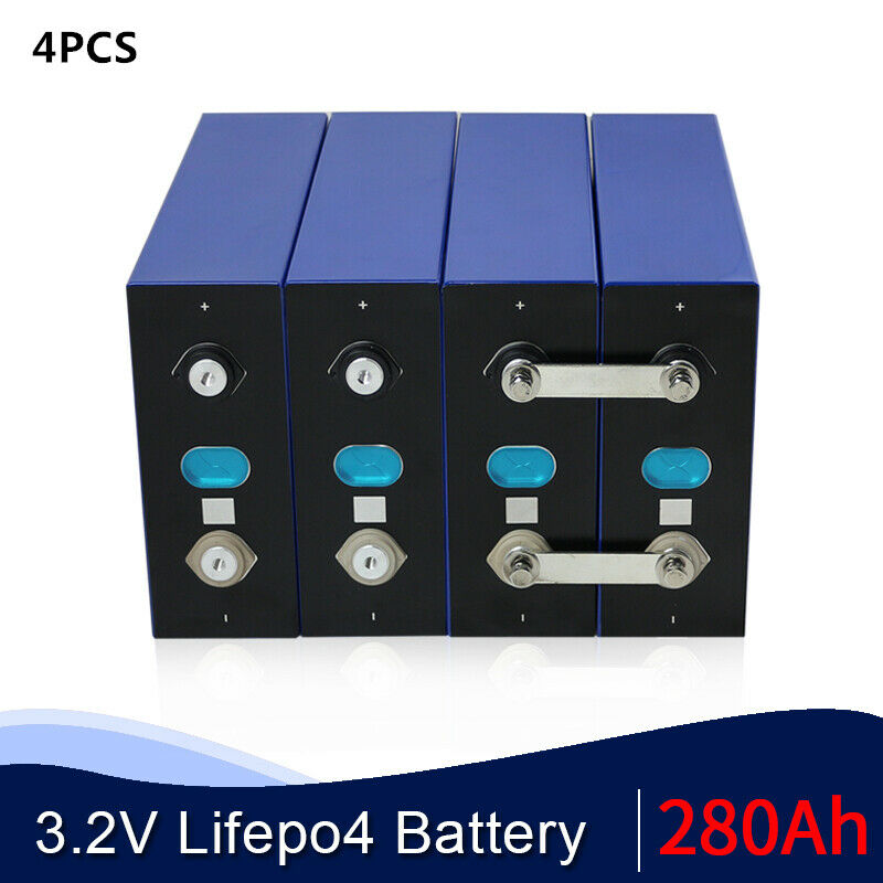 (4PCS) 3.2V 280AH Battery LiFePO4 Lithium iron phospha Large capacity for RV EV