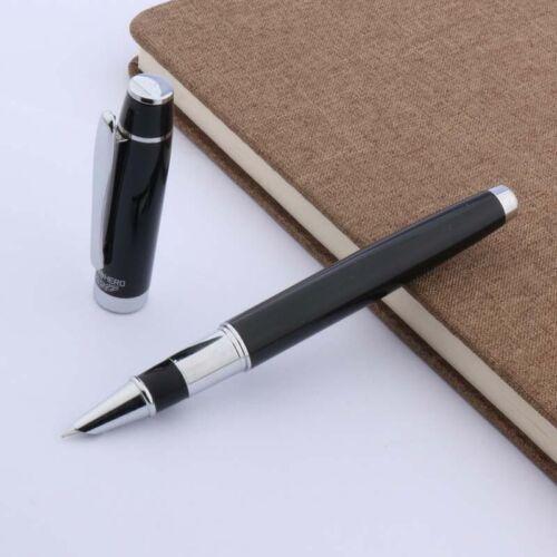 new Writing pen silver BLACK STUDENT Finance F NIB GIFT Fountain Pen