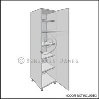 Kitchen Carcass Unit - Tall Larder Cabinet 2150 High - 18mm Back - 100 Colours